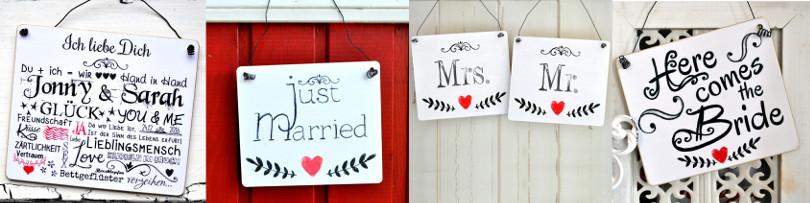 Hochzeitsschilder