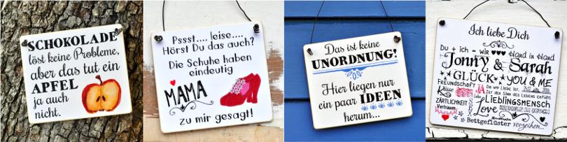 Schilder mit Sprüchen