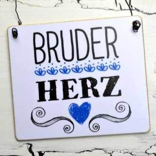 dekoratives Holzschild BRUDERHERZ