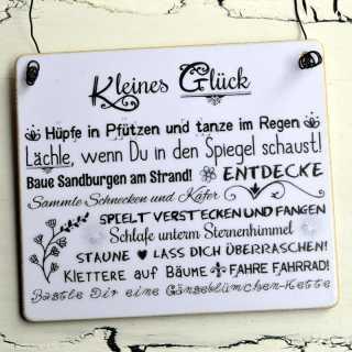 Schild KLEINES GLÜCK