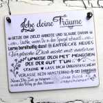 Schild aus Holz LEBE DEINE TRÄUME