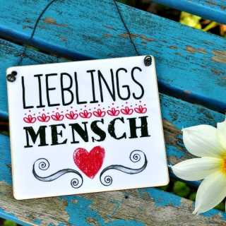 Schild aus Holz LIEBLINGSMENSCH