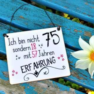 Schild zum 75. GEBURTSTAG (Zahl auch abwandelbar)