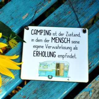 Schild Mit Lustigem Camping Spruch