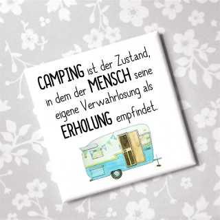 Magnet Mit Witzigem Spruch Camping
