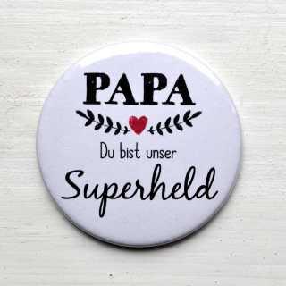Button Magnetflaschenöffner PAPA Du bist unser SUPERHELD