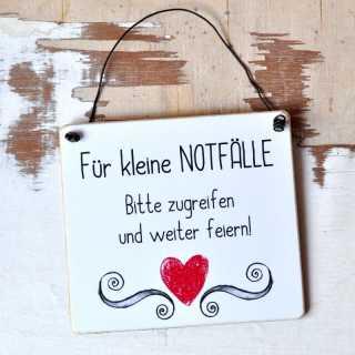 Hochzeitsschild Partyschild FÜR KLEINE NOTFÄLLE
