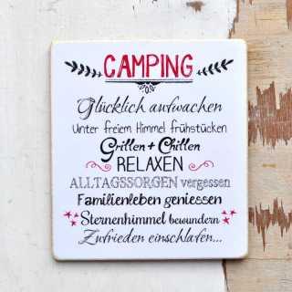 Camping Schild Fur Waschechte Camper