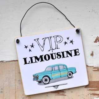 Schild fürs Auto oder den Parkplatz VIP Limousine