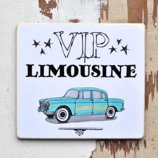 Magnet fürs Auto VIP Limousine mit lustigem Spruch