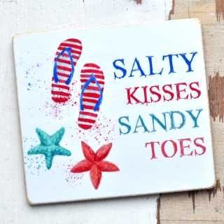 Magnet mit Spruch SALTY KISSES SANDY TOES
