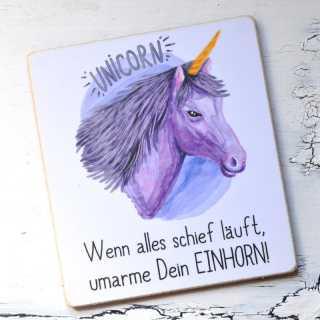 Magnet mit Einhornspruch UMARME DEIN EINHORN