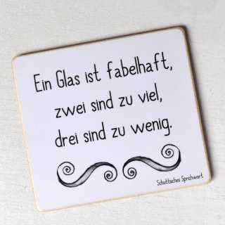 Magnet Ein Glas WEIN ist FABELHAFT