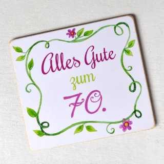 Magnet zum runden Geburtstag ALLES GUTE zum 70.