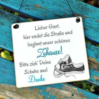 Schuhschild BITTE Schuhe ausziehen! SNEAKER