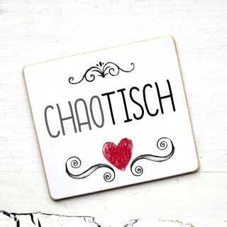 SCHILD mit Tischname CHAOTISCH für Hochzeiten