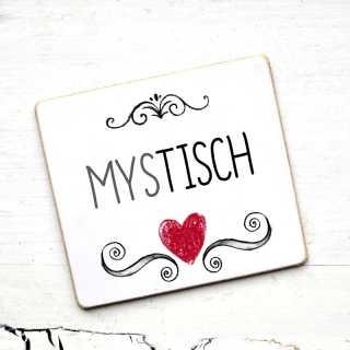 Hochzeitsschild mit Tischname MYSTISCH