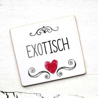 Hochzeit Tischnamen-Schild EXOTISCH