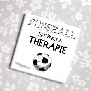 Magnet mit Spruch FUSSBALL ist meine THERAPIE