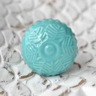 Keramikknauf Möbelknopf FLEURI mint (3,4 cm)