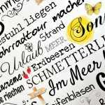 Wendeschild Frühlingserwachen und Sommer Wortcollage DINA3 Alu