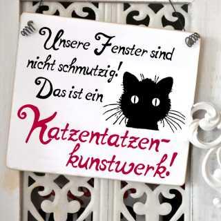 Katzenschild Katzentatzenkunstwerk