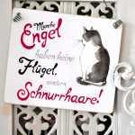 Katzenschild Engel mit Schnurrhaaren