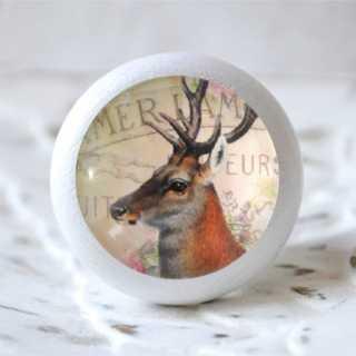 Vintage Knauf Deer Holzknauf
