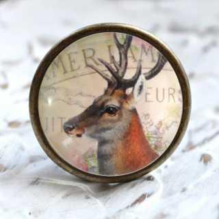 Vintage Möbelknauf Deer