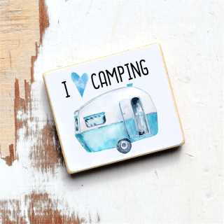 Magnet mit Spruch I love Camping