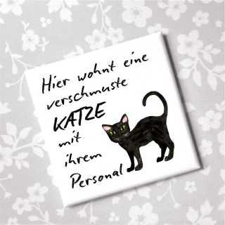 Magnet Katze mit Personal