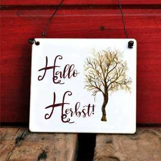 Schild Hallo Herbst