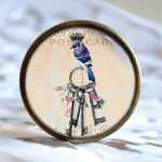 Vintage Key Möbelknauf Bird