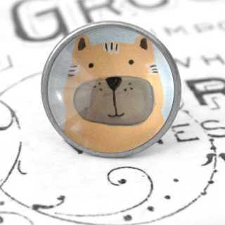 Kinder Möbelknopf mit Tiermotiv fürs Kinderzimmer Tiger