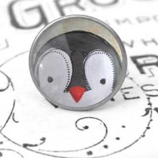 Kinder Möbelknopf mit Tiermotiv fürs Kinderzimmer Pinguin