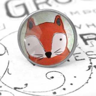 Kinder Möbelknopf mit Tiermotiv fürs Kinderzimmer Fuchs