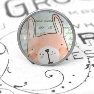 Kinder Möbelknopf mit Tiermotiv fürs Kinderzimmer Hase