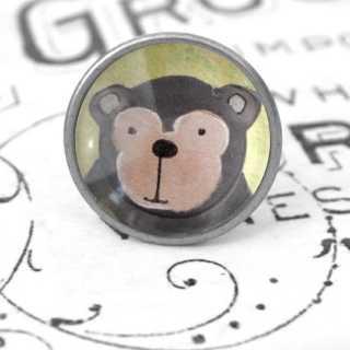 Kinder Möbelknopf mit Tiermotiv fürs Kinderzimmer Affe