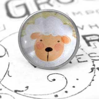 Kinder Möbelknopf mit Tiermotiv fürs Kinderzimmer Schaf
