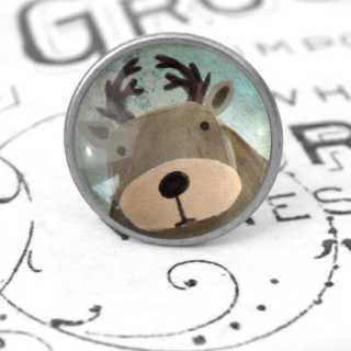 Kinder Möbelknopf mit Tiermotiv fürs Kinderzimmer Hirsch