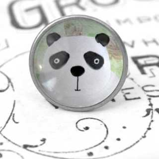 Kinder Möbelknopf mit Tiermotiv fürs Kinderzimmer Pandabär
