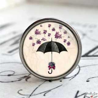 Möbelknopf Metallknauf Regenschirm Purple Flower