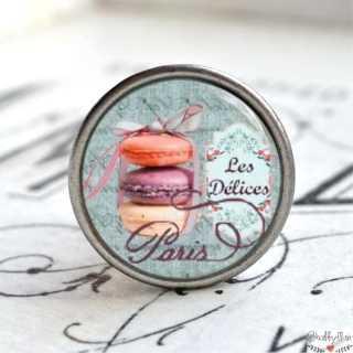 Möbelknopf Metallknauf Macarons Blue Versailles
