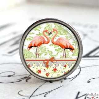 Möbelknauf Metallknauf Flamingos Paris Vert
