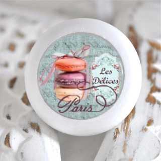 Möbelknauf Holzknauf Macarons Blue Versailles