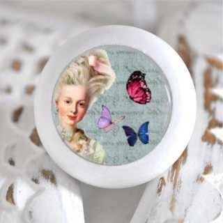 Möbelknauf Holzknauf Schmetterling Blue Versailles