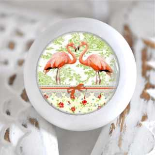 Möbelknauf Holzknauf Flamingo Paris Vert