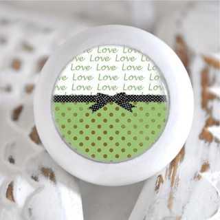 Möbelknauf Holzknauf Love Paris Vert