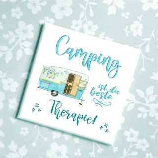 Sprüche Magnet Camping ist die beste Therapie