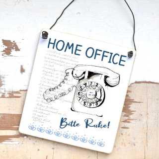 Schild Home Office - Bitte Ruhe